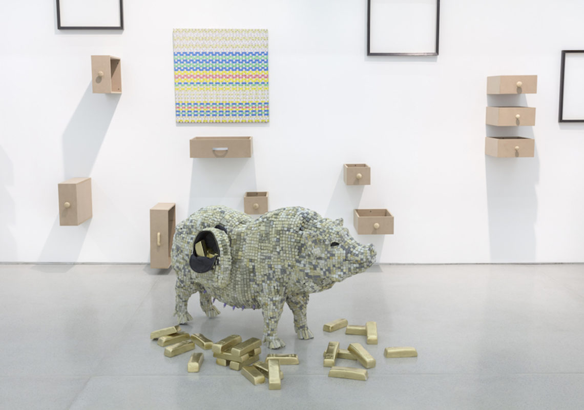 COUCOU CRUMBLE, Maurice Mbikayi, 2019. Mixed media installations, Dimensions variable.