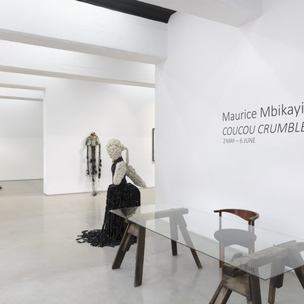 Installation view of Coucou Crumble by Maurice Mbikayi